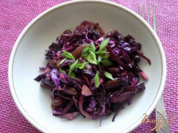 Рецепт Салат из краснокочанной капусты с фасоли