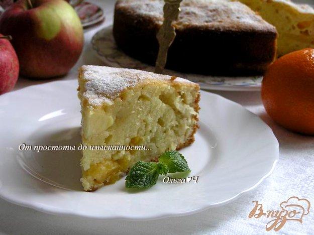 Рецепт Шарлотка с яблоками и мандарином