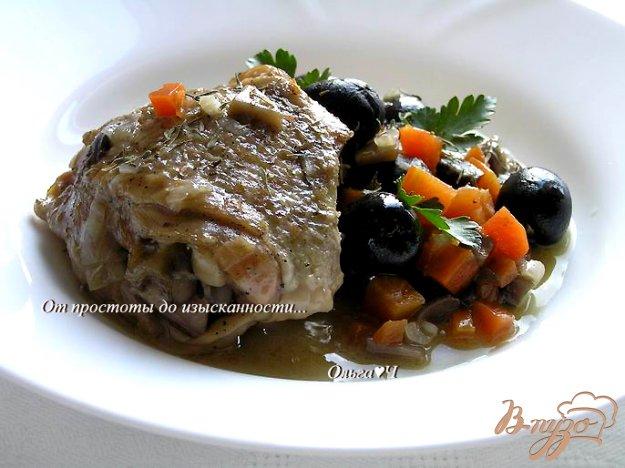 Рецепт Курица с грибами и маслинами