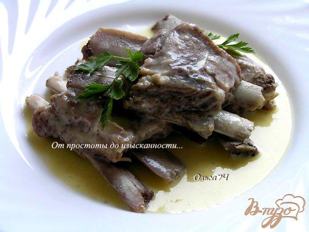 Рецепт Бараньи ребрышки с яичным желтком и лимоном (в мультиварке)