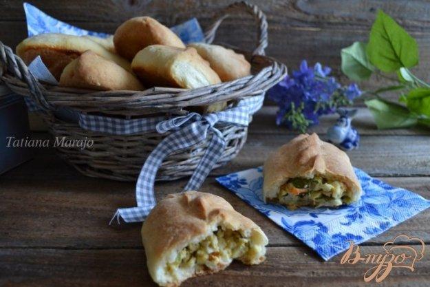 Рецепт Пирожки с яйцом, зеленым луком и крабовыми палочками