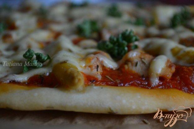 Рецепт Пицца с куриным мясом и белой спаржей