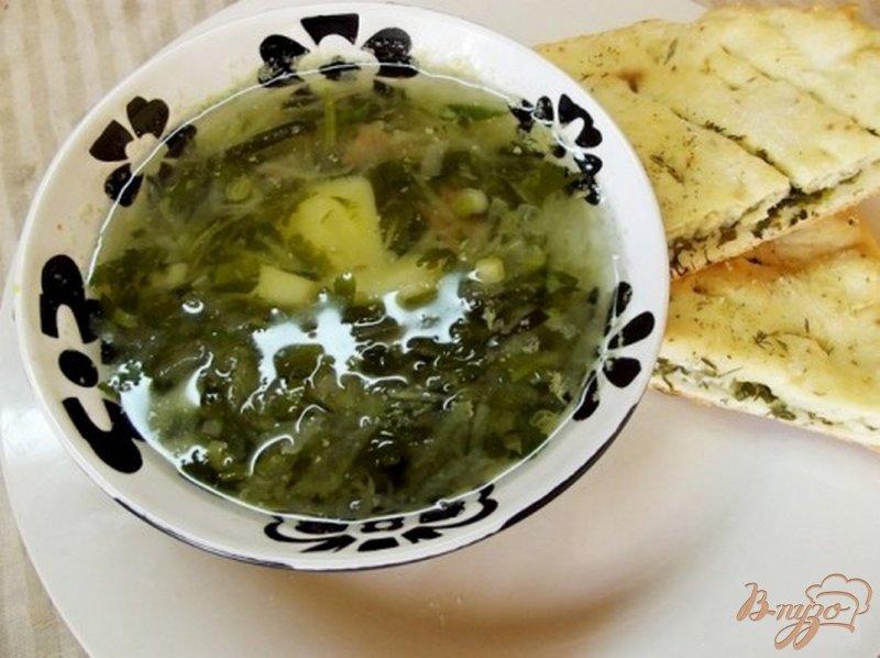Фото приготовление рецепта: Зеленый борщ из редьки шаг №5