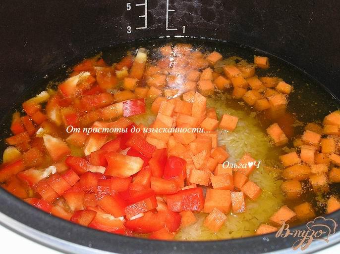 Фото приготовление рецепта: Утка с рисом и овощами (в мультиварке) шаг №4