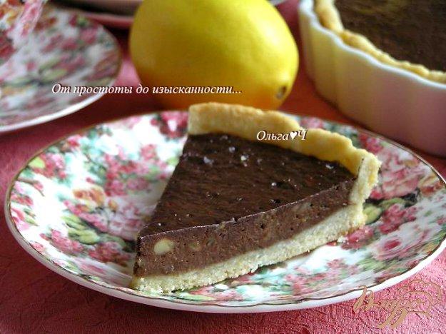 Рецепт Лимонный тарт с шоколадным кремом и бананами