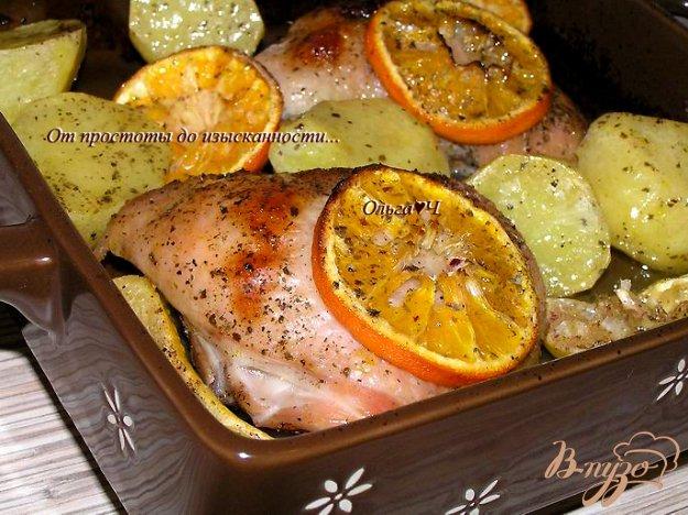 Рецепт Курица с цитрусовыми и мятным сиропом