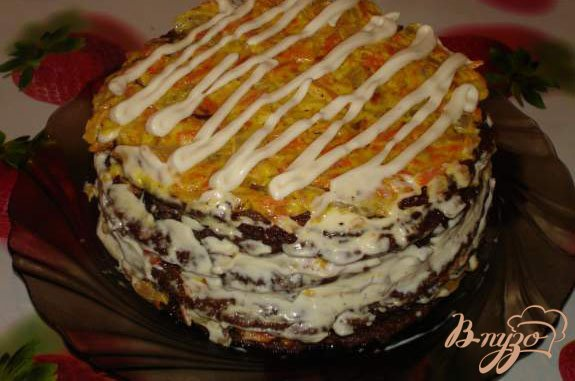 Рецепт Печеночный торт (печень куриная)