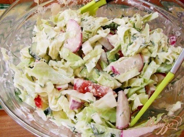 Рецепт Салат овощной с оригинальным соусом