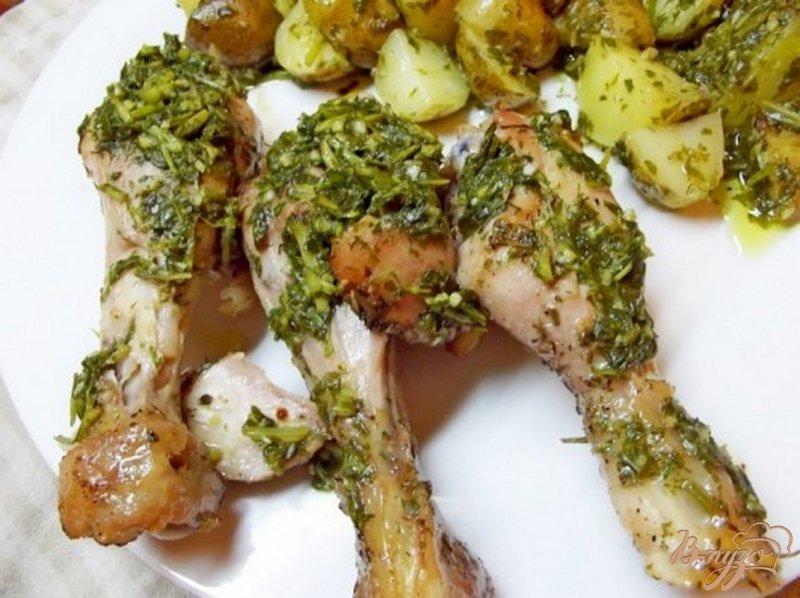 Фото приготовление рецепта: Куриные ножки в медово-лимонном маринаде шаг №6