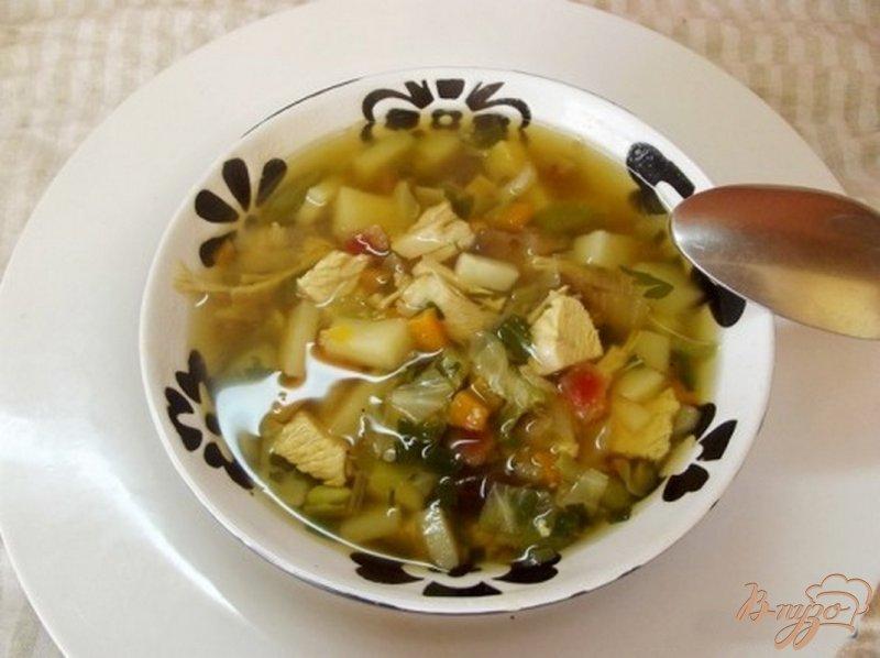Фото приготовление рецепта: Овощной суп на говяжьем бульоне шаг №6