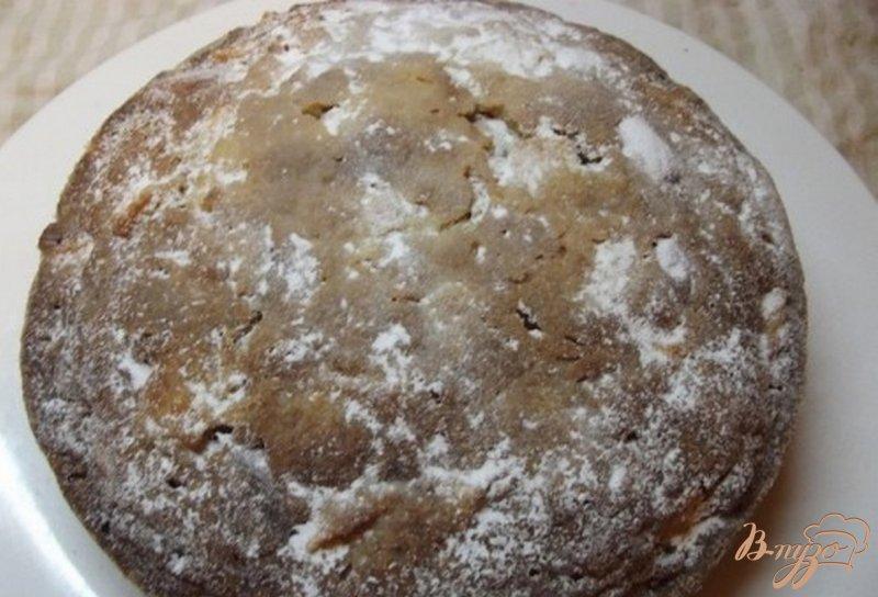 Фото приготовление рецепта: Яблочный пирог с миндалем шаг №8
