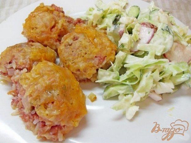 Рецепт Тефтели с луково-чесночной подливкой