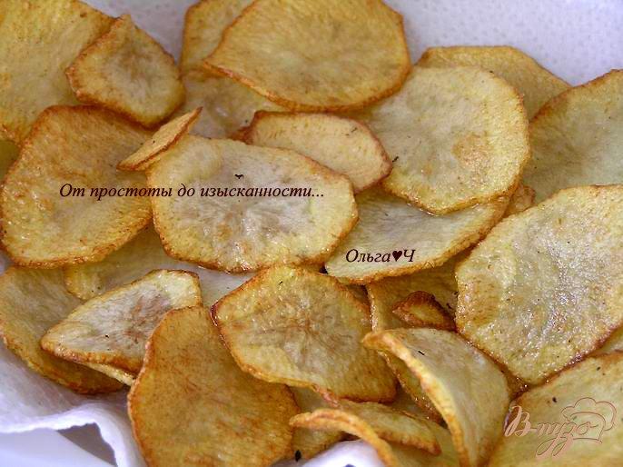 Фото приготовление рецепта: Картофельные чипсы шаг №3