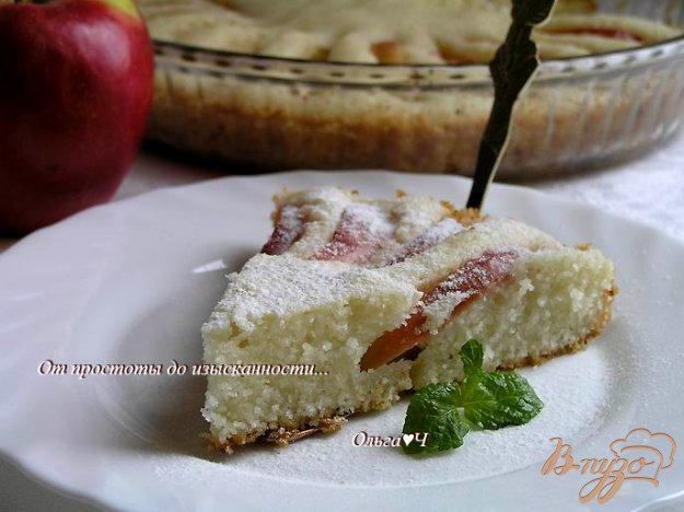 Рецепт Постный манник с яблоками