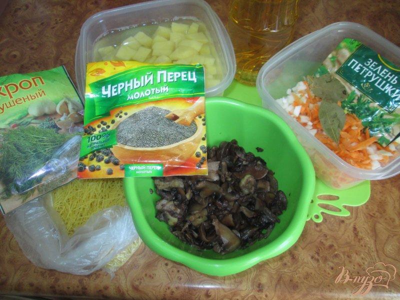 Фото приготовление рецепта: Суп грибной с маслятами и шампиньонами шаг №1