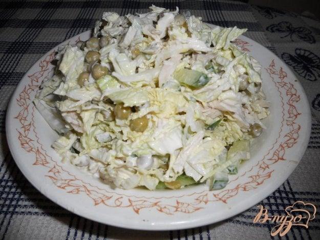 Рецепт Легкий салат с курочкой и пекинской капустой