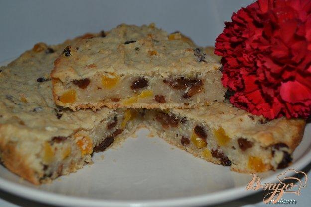 Рецепт Овсяный пирог на яблочном отваре с сухофруктами
