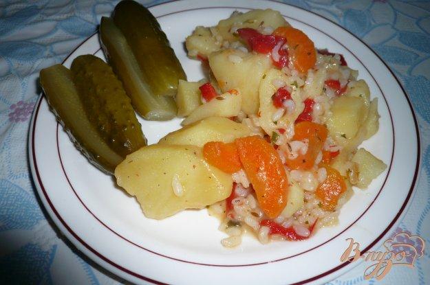 Рецепт Картофель с рисом тушеный