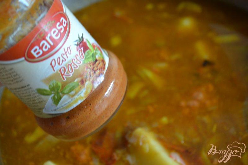 Фото приготовление рецепта: Густой суп с фасолью и абрикосами шаг №5