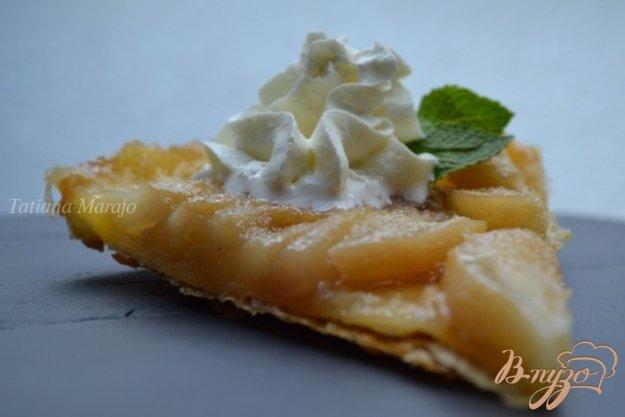 Рецепт Перевернутый грушевый пирог с миндалем