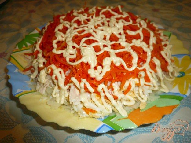 фото рецепта: Салат из куриного мяса с морковью по-корейски