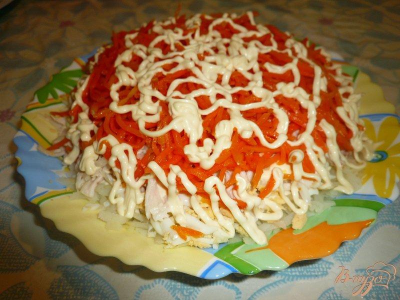 Фото приготовление рецепта: Салат из куриного мяса с морковью по-корейски шаг №9