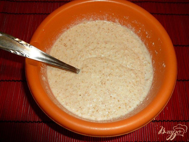 Фото приготовление рецепта: Пирожок манно-овсяный шаг №4