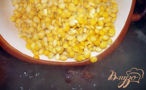 Гороховый суп на курице холодного копчения