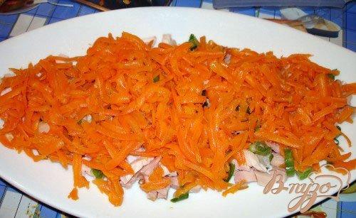 Салат со свеклой и копченой курицей