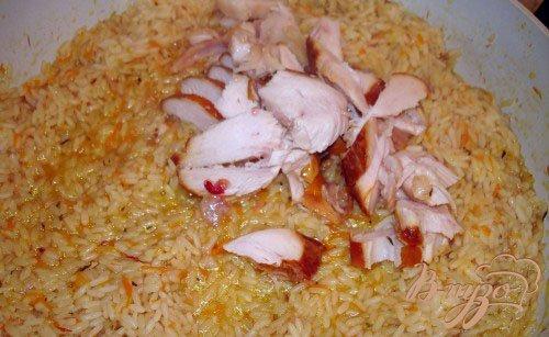 Рис с копченой курочкой