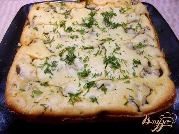Рецепт Пирог с шампиньонами закусочный