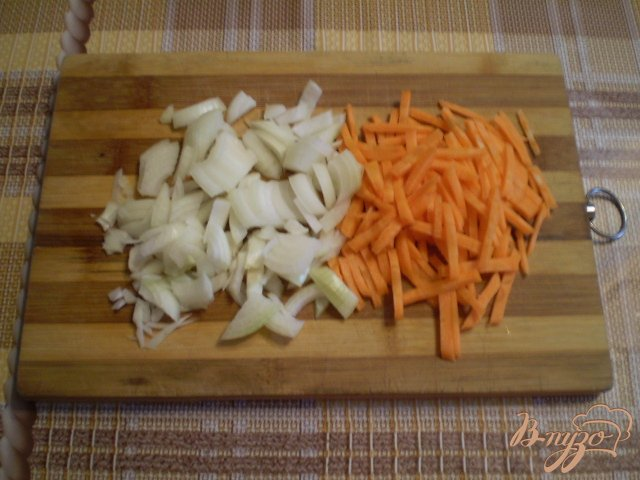 Фото приготовление рецепта: Суп гречневый с тыквой шаг №2