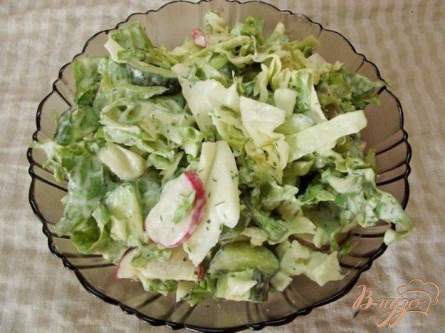 фото рецепта: Салат с огуречным соусом