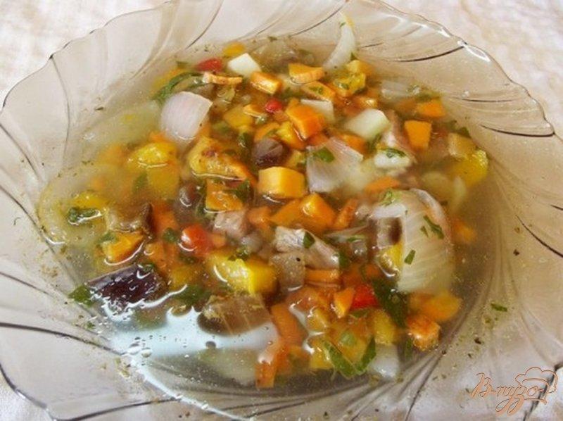 Фото приготовление рецепта: Суп ассорти с печеными овощами шаг №9