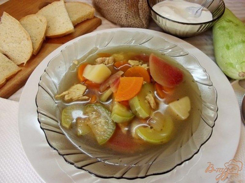 Фото приготовление рецепта: Суп кабачковый шаг №11