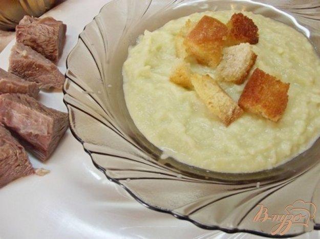 фото рецепта: Холодный суп - пюре из сельдерея