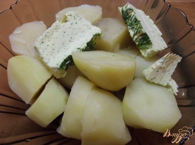 Фото приготовление рецепта: Чесночное масло с зеленью домашнее шаг №9