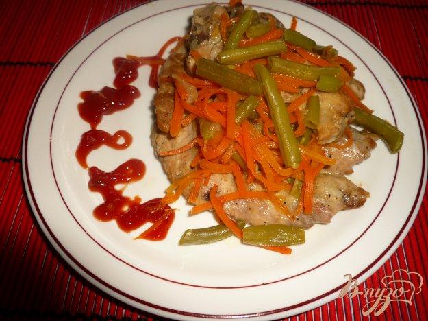 Рецепт Рагу с морковью и зеленой фасолью