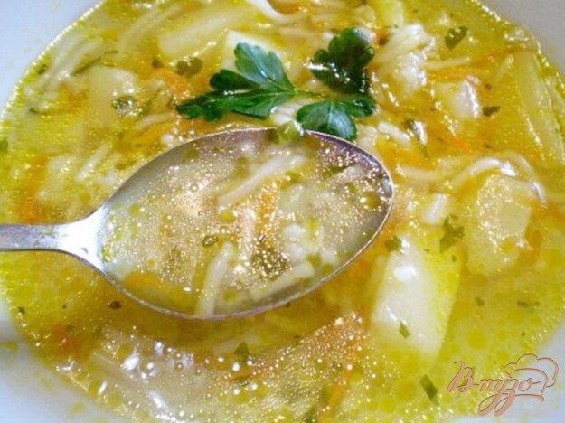 фото рецепта: Суп с овсяными пластивцами и вермишелью