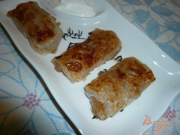 Рецепт Мини-пирожки из рисовой бумаги с яблочной начинкой