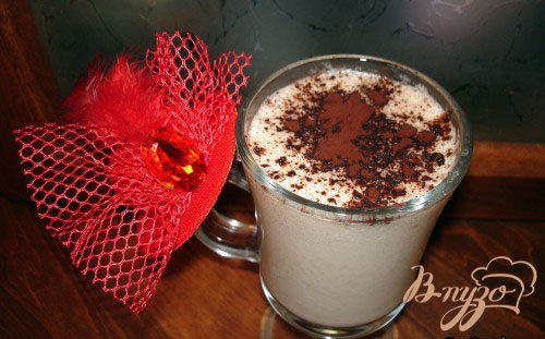 Рецепт Горячий молочно-шоколадный коктель с бананом