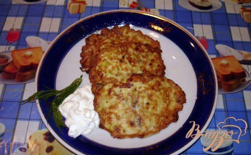 Рецепт Кабачковые оладушки с грибами