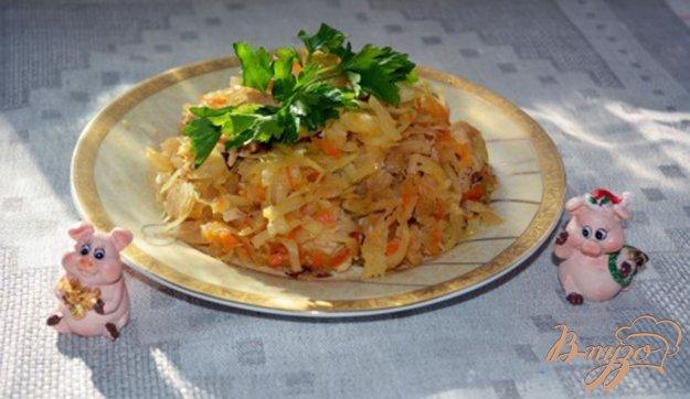 Рецепт Тушеная капуста с куриной грудкой