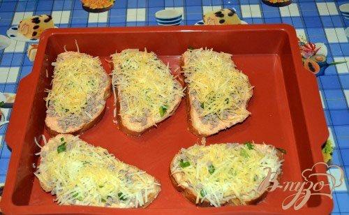 Мини пицца на батоне (багете)