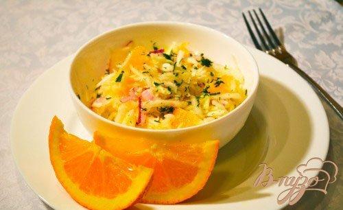 Салат капустный с апельсином и необычной заправкой