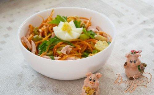 Рецепт Салат из овощей и грибов без заправки