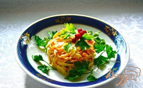 Рецепт Морковный салат с сыром и соусом