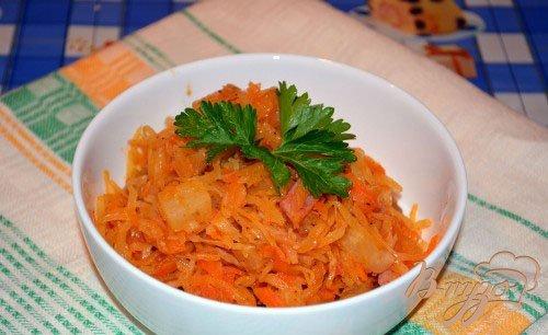Рецепт Cолянка с грибами, ветчиной и ананасами