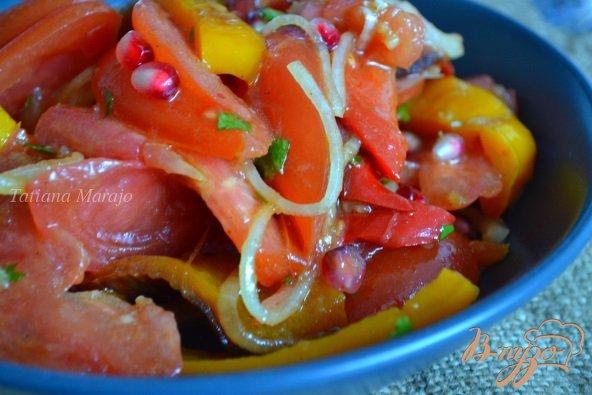 Рецепт Помидорный салат со сладким перцем