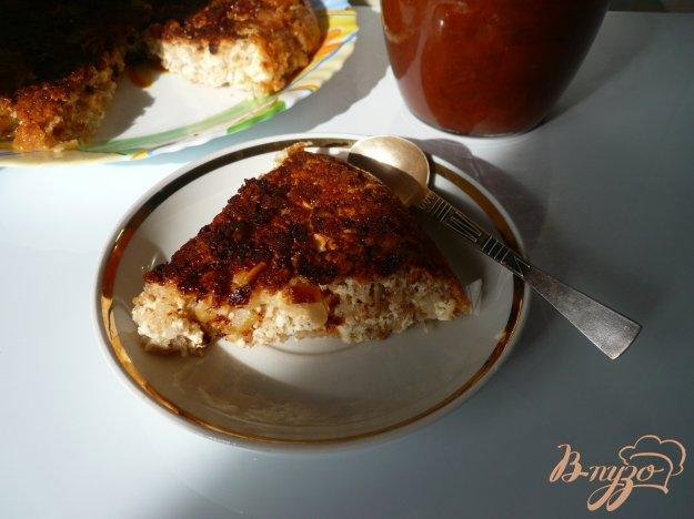Рецепт Творожная запеканка с яблоком и овсяными хлопьями